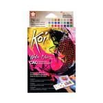 Caja Pocket Box 24 pastillas de acuarelas (metalicas y fluorescentes) Sakura