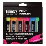 Set de 6 rotuladores Liquitex Paint Marker FLUO (15 mm)