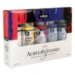 Set Acrílico Studio Vallejo 5 colores (200 ml)
