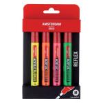 Rotuladores acrílicos Amsterdam, set Reflex Pack (4 colores)