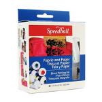Set tinta xilogrfia textil Speedball, 6 colores,  37 ml.