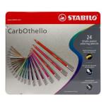 STABILO Carbothello Caja metal 24 colores lápices pastel surtidos