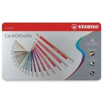 STABILO Carbothello Caja metal 36 colores lápices pastel surtidos