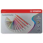 STABILO Carbothello Caja metal 48 colores lápices pastel surtidos