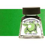 Tinta Dibujo Verde Brillante Winsor Newton, 14 ml.
