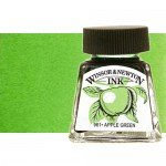 Tinta Dibujo Verde Manzana Winsor Newton, 14 ml.