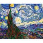 "Pintar por números kit cuadro ""Van Gogh Noche Estrellada"", 40x50cm, Figured'Art"