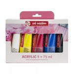 Set Acrílico Art Creation 5 colores (75 ml)