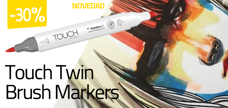 Rotuladores Touch Twin Brush