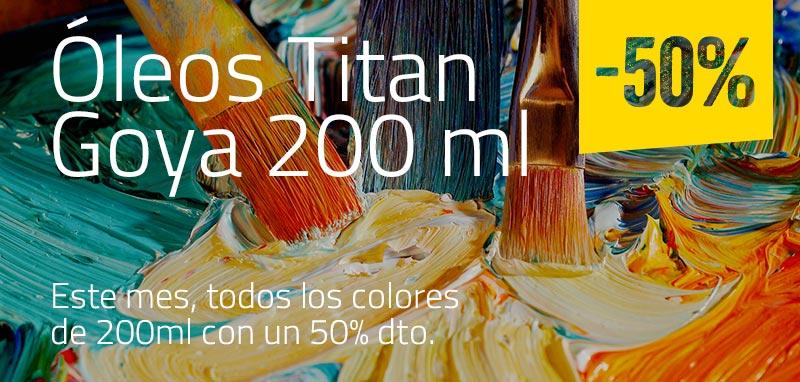 -50% en Óleos Titan Goya 200 ml