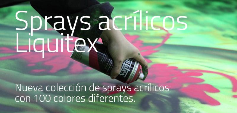 Sprays acrílicos Liquitex. Nueva colección con 100 colores diferentes