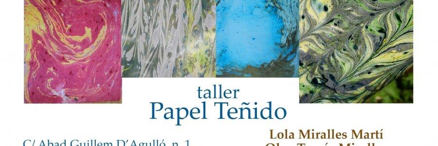 Taller de papel teñido y marmoleado