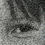 Detalle de ojo de cuadro hecho con clavos e hilo - Noticias de arte