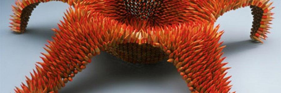 Esculturas diferentes o cómo reciclar lápices de color