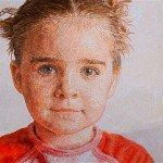 Retrato infantil con hilos, de Cayce Zavaglia
