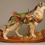 Australian Sheperd, escultura en madera de Tim Racer