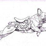 Bulldog Francés, ilustración de Tim Racer