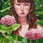 detalle de 'Detrás del jardín', (óleo sobre lienzo). Lucía Rodríguez