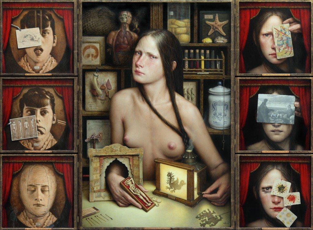'Dies Irae' del artista Dino Valls. Óleo sobre tabla