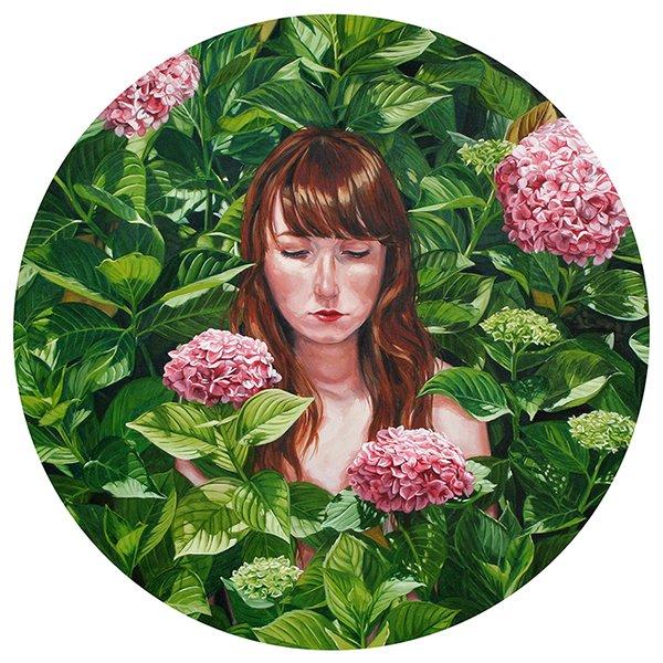 Detrás del jardín (óleo sobre lienzo). Lucía Rodríguez