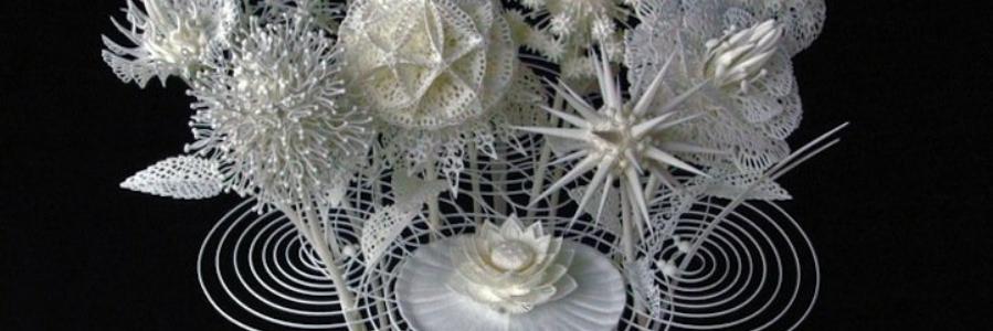 Flores del futuro: el arte de las impresoras 3D