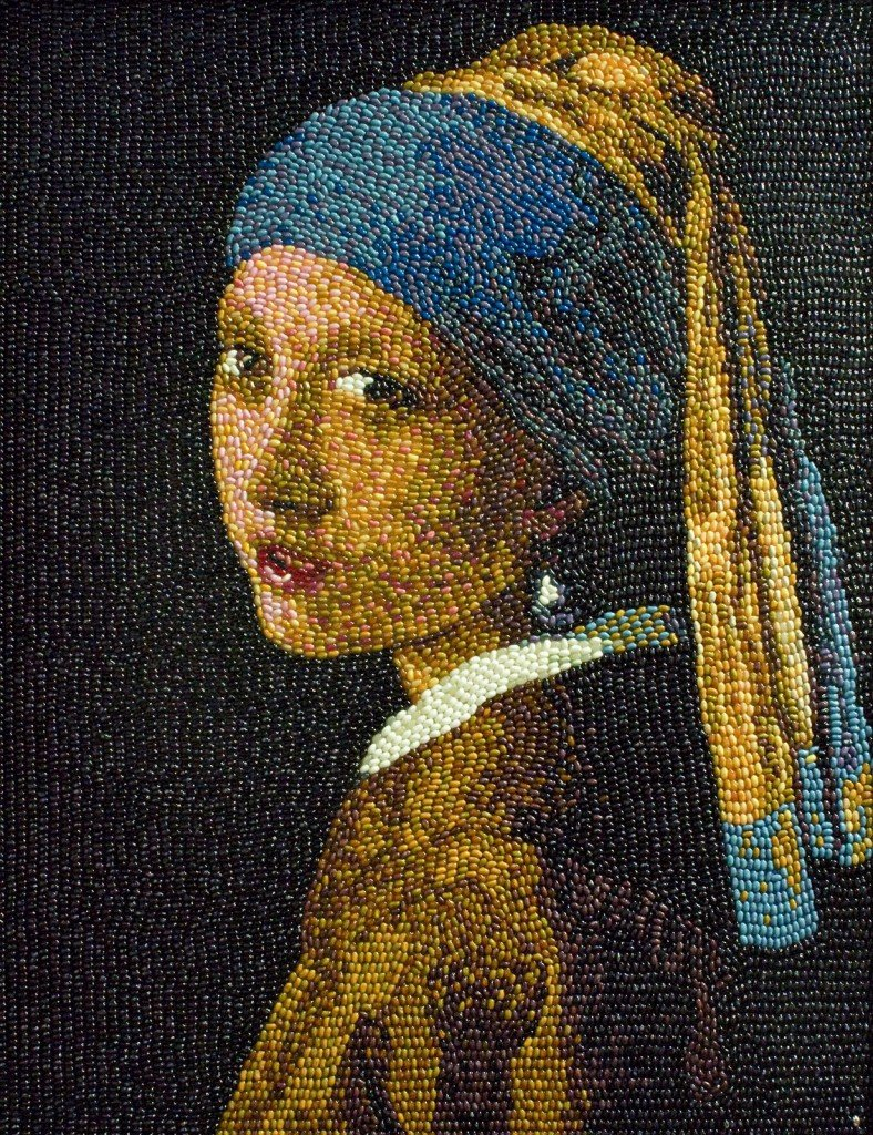 Arte con comida: la joven de la perla