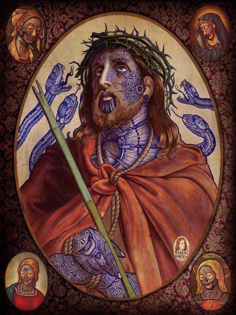 Tatuajes en arte religioso- Ramon Maiden