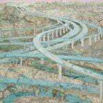 collage con mapas de carretera