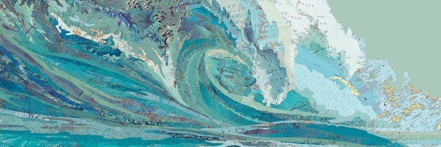 Mapamundi: el arte con mapas de Matthew Cusick