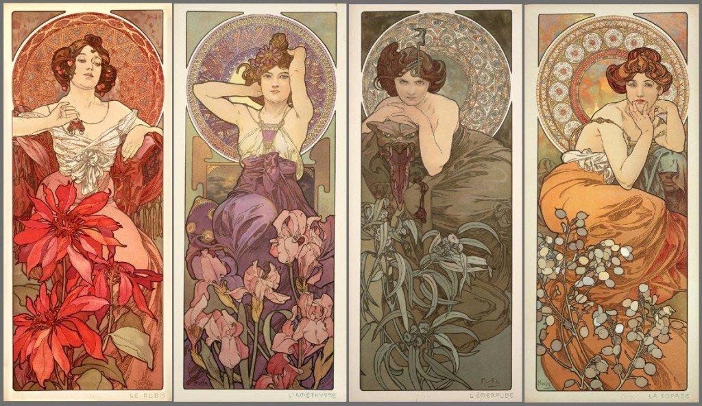 Serie de Alphonse Mucha