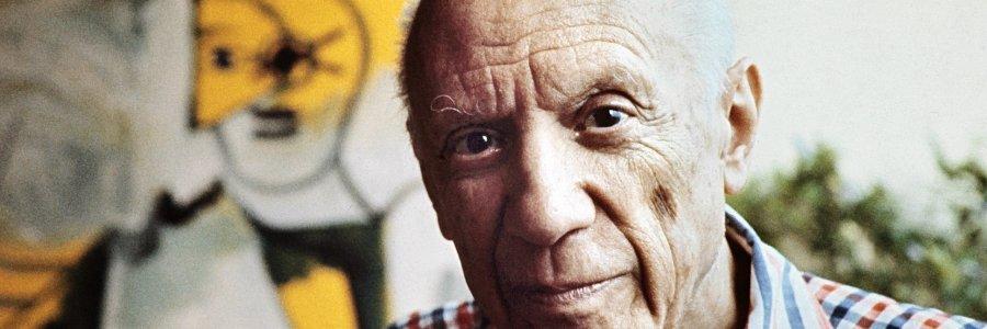 Vuelve Picasso. En celuloide, papel vegetal, sello y cupón