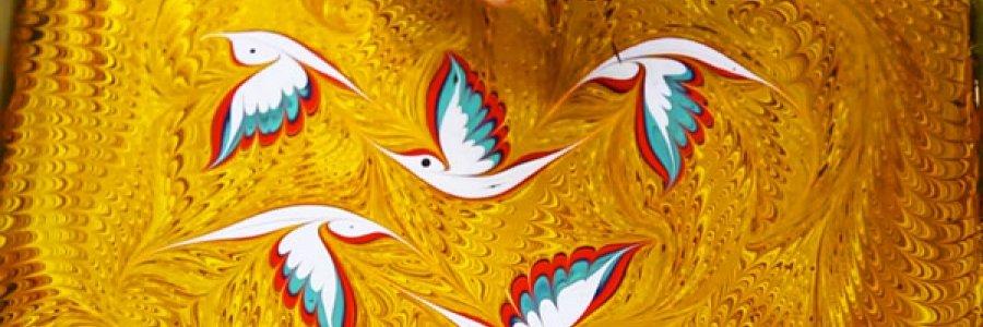 Ebru Art, cómo hacer papel teñido