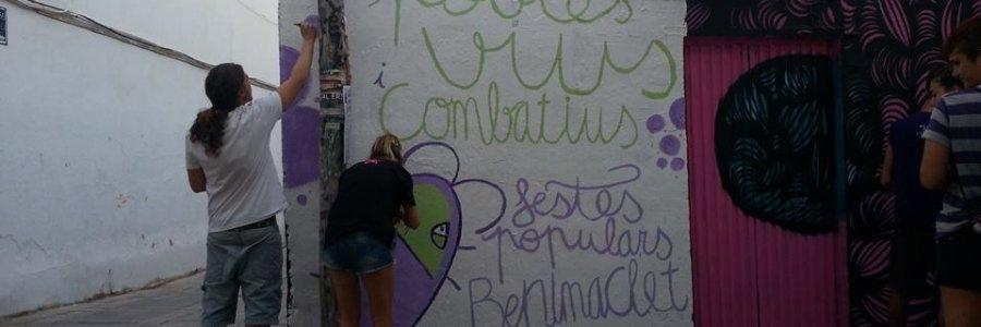 El graffity borrado en Festes Populars de Benimaclet volverá a la calle