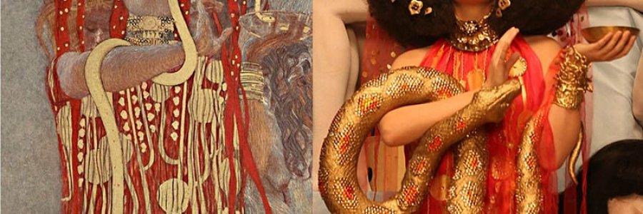 Los lienzos de Gustav Klimt en la vida real