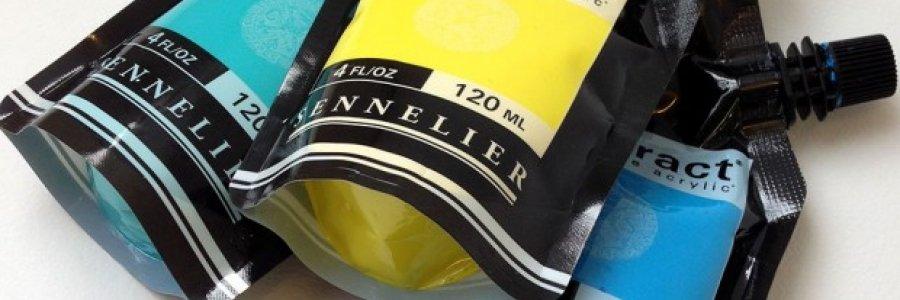 Pintura en bolsa, o los nuevos Abstract de Sennelier
