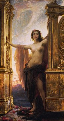 desnudos-Herbert_James_Draper,_The_Gates_of_Dawn-noticias-totenart