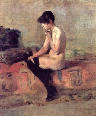 "desnudos-Toulouse-Lautrec ""Mujer desnuda""-noticias-totenart"