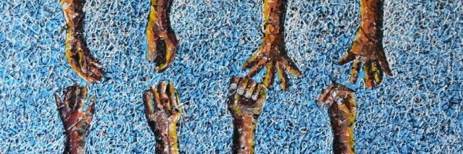 Mbongeni Buthelezi, pinturas de plástico