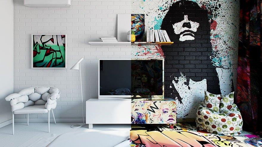 graffity-por-toda-la habitación-noticias-totenart-hotel