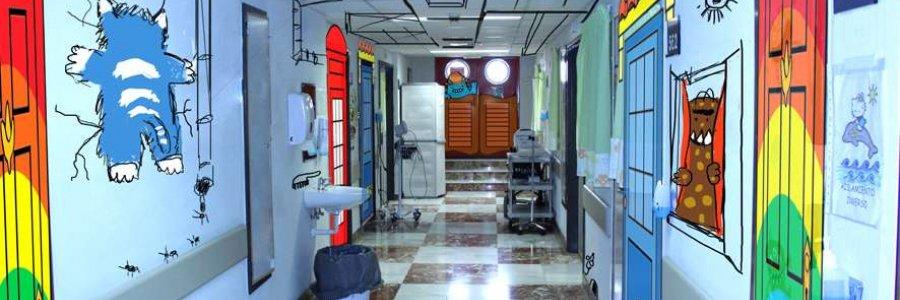 Visten de color la planta de Oncología Infantil del General de Alicante