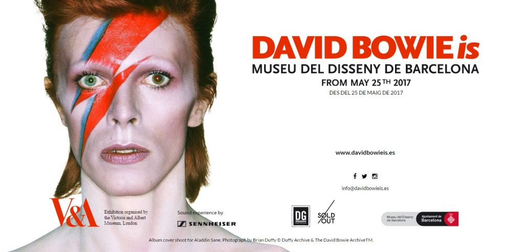 Resultat d'imatges de cartel david bowie is barcelona