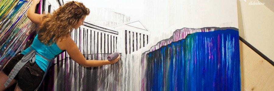 Amy Shackleton o como pintar sin pincel alucinantes paisajes