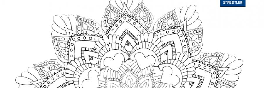 Concurso de coloreado de mandalas Staedtler