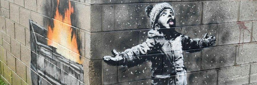 La obra de Banksy que hizo rico a un obrero galés