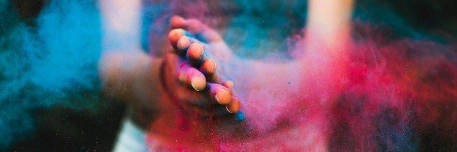 Cómo hacer colores Holi