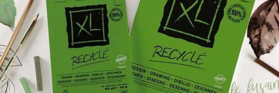 Protege el planeta dibujando en papel reciclado