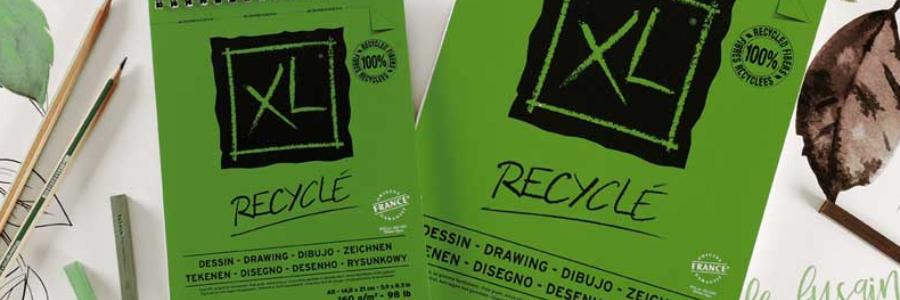 Cómo proteger el planeta dibujando en papel reciclado