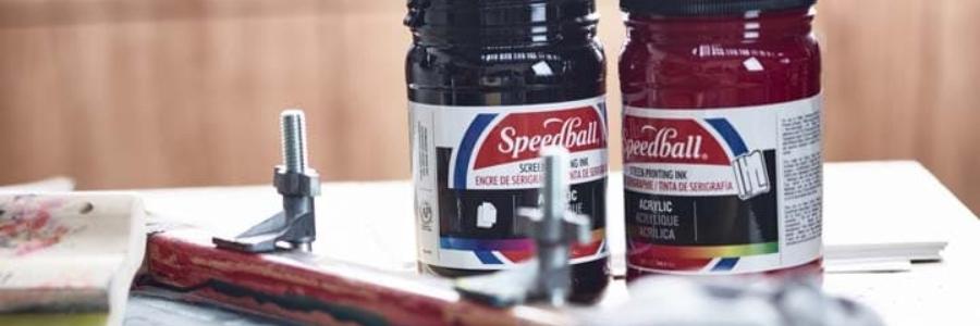 ¿Qué es la serigrafía textil?: Tintas Speedball