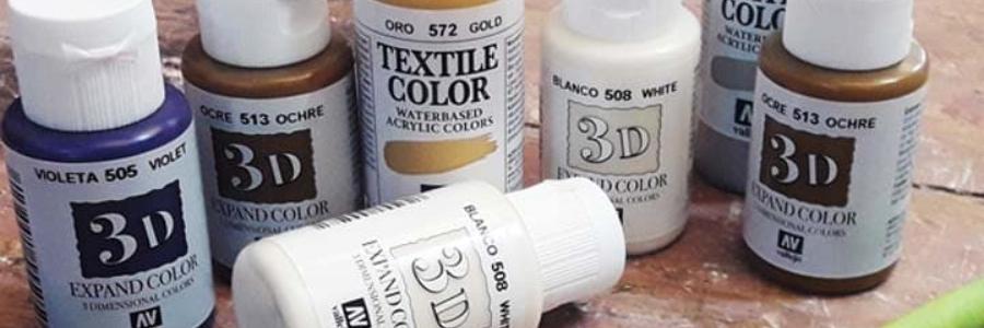 Pintura 3d Textil Vallejo, Características