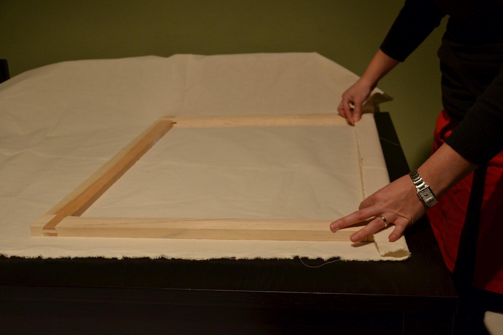C mo fabricar un lienzo tutoriales arte de totenart - Como enmarcar un lienzo ...